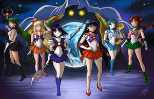 Sailor Senshi by Holly-the-Laing