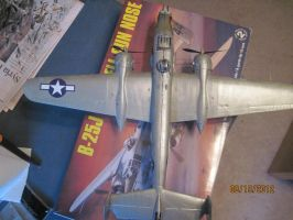 B-25J Mitchell Nose Gun: Top View by cloudyrainbow561