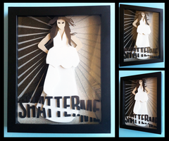 Shadowbox:  SHATTER ME - Book Cover by The-Paper-Pony