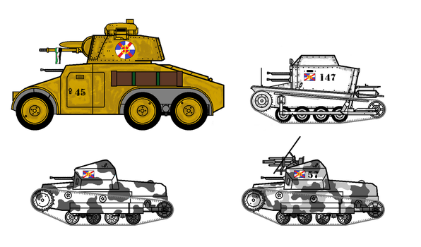 Armored car and tankettes by GeorgeEmpy