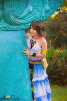 FFX2 Yuna Cosplay (Gunner Costume) by Rose by AurumCosplay