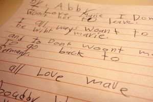 Abbys letter. by CupCandyCake