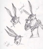 Bunnymund Sketches by Sorceress96