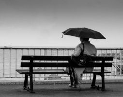 The man in the brolly by Malcolm21