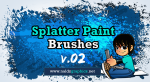 Splatter Paint Brushes V.02 by NaldzGraphics