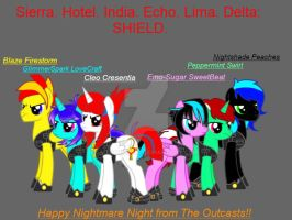 The Outcasts attire for Nightmare Night (SHIELD) by MaxMishima