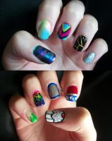 Random Nails by QueenAliceOfAwesome
