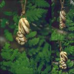 Carved Bone Pendant 'The Fern' by erzsebet-beast