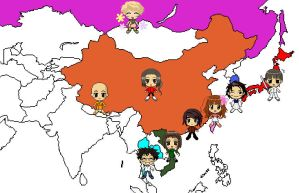 Asian Map by Teddie-Chan