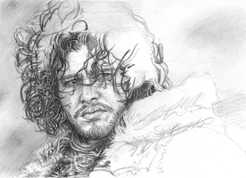 Jon Snow (Kit Harington) by shezzor