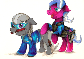 Comission - MLP. Powder Gang Fillies by jamescorck