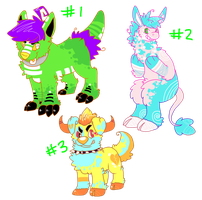 Adopts on SALE!: open, 50pts by FrankenPup