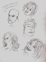Facial Sketches by LightlyBow