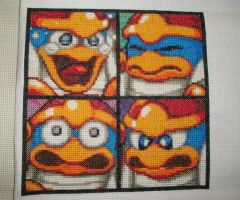 Child'sPlay 2012 Quilt Sq:4-Kirby Super Star Ultra by gamerwolff