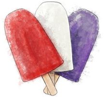 Red white and blue popsicles by torstan