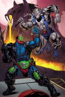Trapjaw Vs Panthro by Kevin-Sharpe