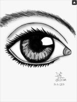 Mark Crilley Inspired Realistic Eye by Animefangirl68