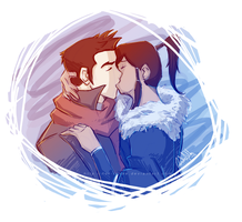 Mako x Korra by nor-renee