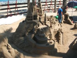 Sand castle by Princesa-Daisy