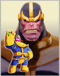 Thanos Commish by D-Gee
