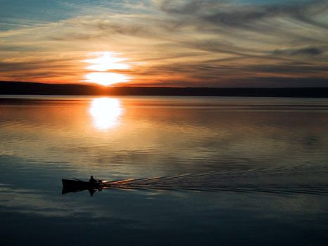 lonely fisherman by omdot