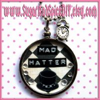 Mad Hatter SUGAR POT Necklace by SugarAndSpiceDIY