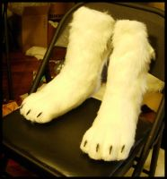 White Wolf Feet by Qarrezel