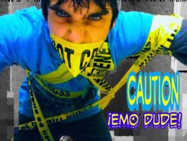 CAUTION EMO DUDE by EmoHoodieDude
