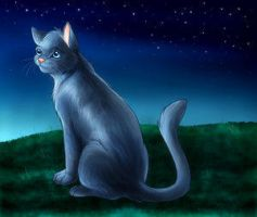 Bluestar by cybercatmia by StarClan