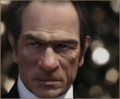 Tommy Lee Jones(Painting) by chamirra