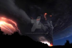 Red Lightning Fire Tornado by soulfull88