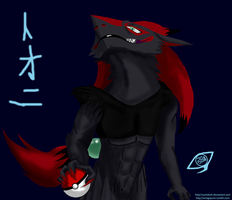 Tony the sergal zoroark by yumidark