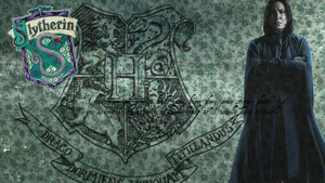 Slytherin Snape Wallpaper by AlannahG