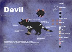 Devil Ref sheet by PawesomeSauce