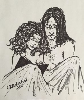 Severus and Hermione enjoying a lie-in by CR-MediaGal