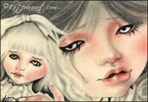 Fake Doll ACEO by Katerina-Art