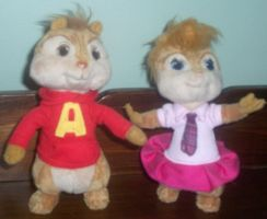 Alvin and Brittany plush by ChipmunkRaccoon2