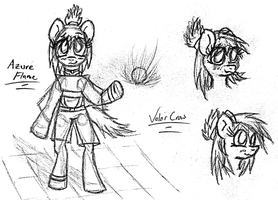 2012-03-07-Azure Flame OC by Valorcrow