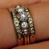Yellow Gold Diamond Rings by FantasyStock