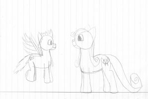 Hatched pony egg and foal (wip) by WoefulWriters