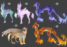 -CLOSED- Shiny Fantasy Adoptables -POINTS- by Makirou