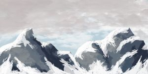 Mountain Range no snow by iamherecozidraw
