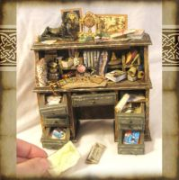 Dollhouse Egyptologist Desk by grimdeva