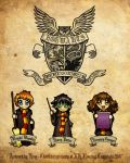Harry, Ron and Hermione by kina