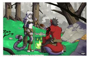 3th Commision DrRedHusky color by siekfried