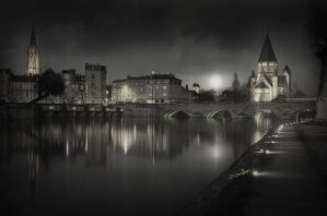 Light on the Temple island - Metz by Marcusion