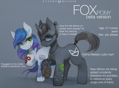 Ponysona prototype whatever thingy by FoxInShadow