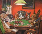 Poker Dogs by HillaryWhiteRabbit
