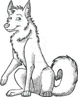 Wolf Ink Shaded by Silversnow-wolf