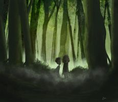 Alone in the woods by inkbot-uk